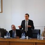 Președintele SȘIR, Bogdan Murgescu, alături de coorganizatori: Ioan - Aurel Pop (rector al UBB), Ovidiu Ghitta (decan al UBB), Toader Nicoară (director al școlii doctorale de istorie, UBB)