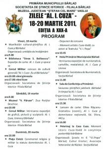 Zilele Cuza 2015